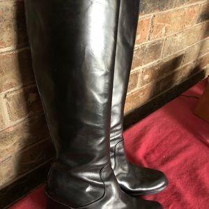 Italian Vara Gomma leather boots high quality 6.5